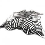 zebra print cowhides