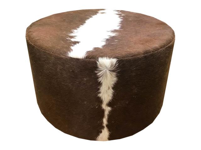Round Ottoman Tan