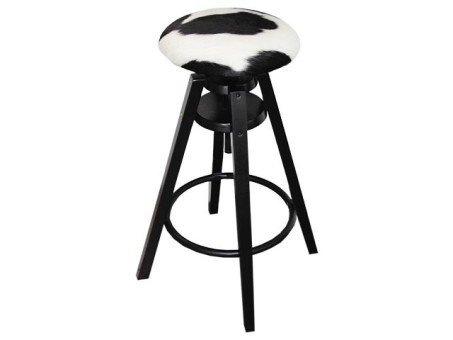 Black Bar Stool The Cowhide Company