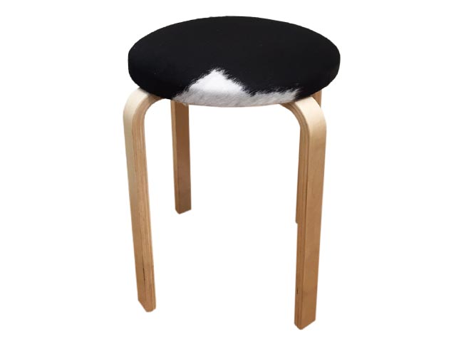 Simple Stool The Cowhide Company