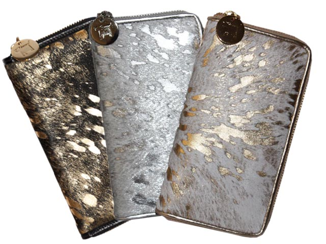 Metallic Zip Wallet