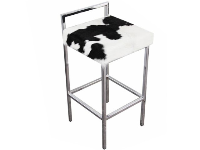 Cowhide Barstools Vintage Black White Hairhide Leather Bar: The Cowhide Company