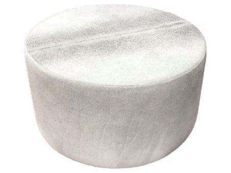 Round Ottoman Grey