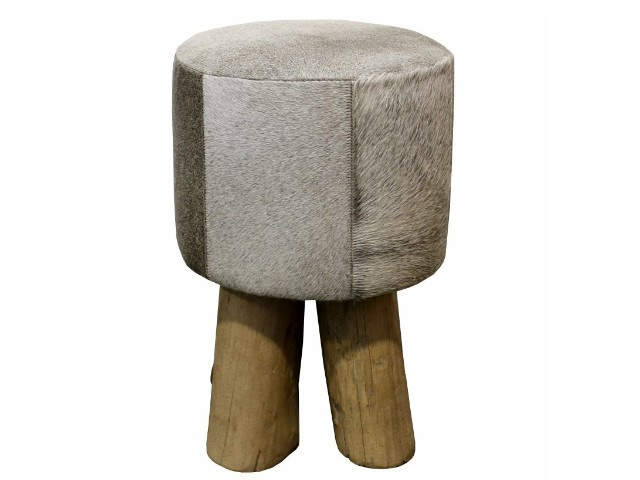 Rustic Stool -grey