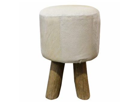 Rustic Stool -white