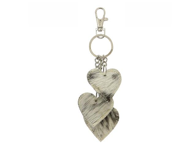 3 Heart Keyring