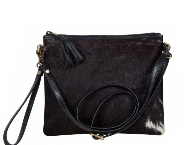 Clutch w/ leather