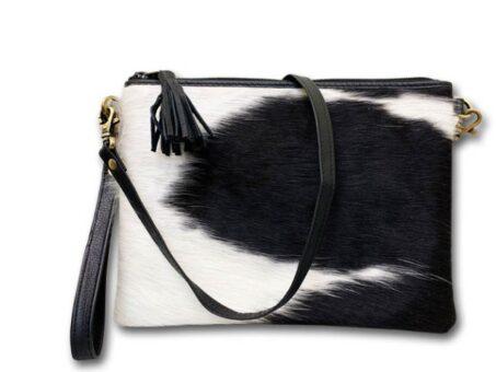 Clutch w/ leather